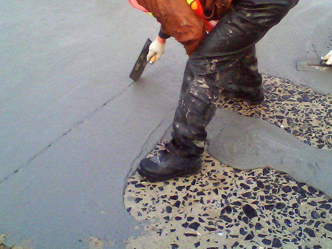 地面露石子修复工程案例