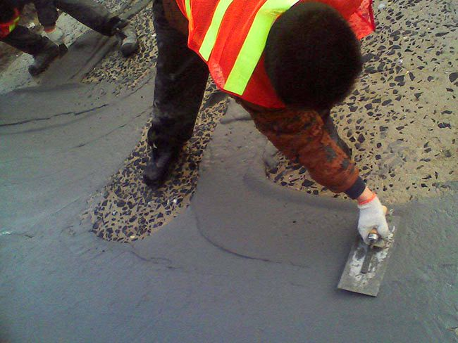 地面露石子修复